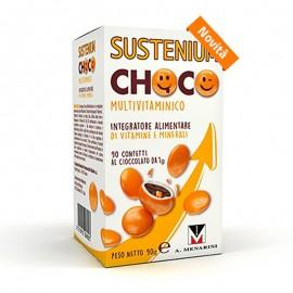 Sustenium Choco,  90 confetti al cioccolato - Integratore 12 vitamine 6 minerali