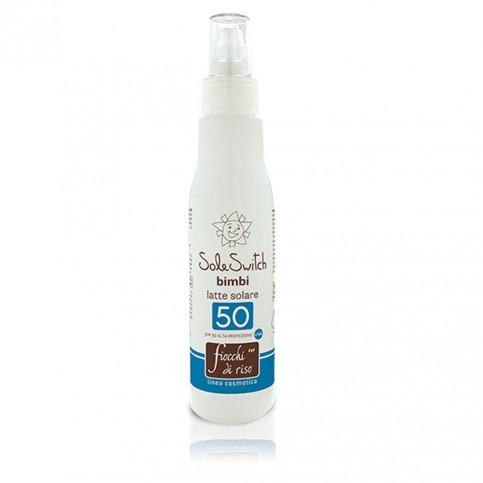 Fiocchi di Riso Sole Switch Bimbi latte solare SPF 50, 140 ml