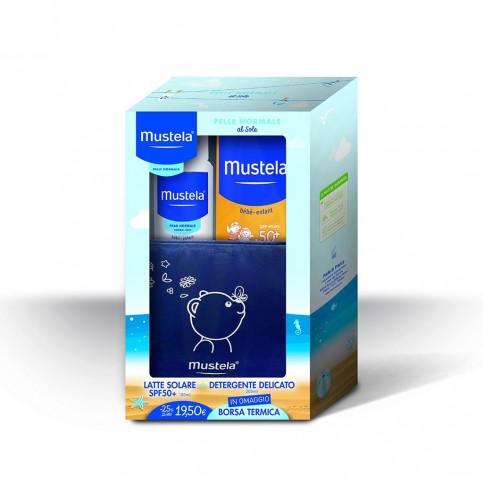 Mustela Kit Estate Pelle Normale - Latte solare SPF 50+ e Detergente Delicato