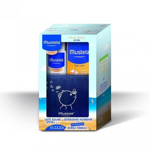 Mustela Kit Estate Pelle Secca - Latte solare SPF 50+ e Detergente Nutriente