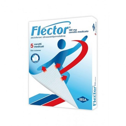Flector Cerotto Medicato, confezione da 5 cerotti 180 mg