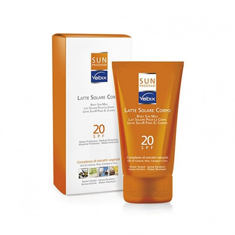 Vebix Sun Program Latte Solare Corpo SPF 20, 125 ml