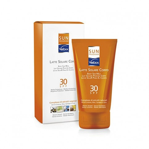 Vebix Sun Program Latte Solare Corpo SPF 30, 125 ml