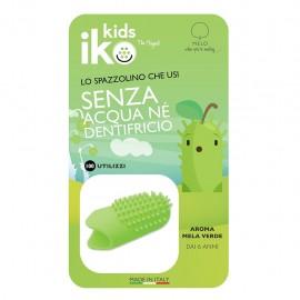 Iko Kids Mela Verde Ditale Fluoro - Spazzolino da dito