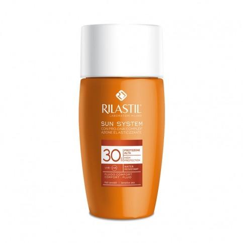 Rilastil Sun System SPF 30 Fluido Comfort Pelli Sensibili, 50 ml