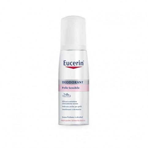 Eucerin 24 h Deodorante Pelle Sensibile Vapo, flacone da 75ml