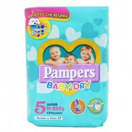 Pampers Pannolini Baby Dry Junior 11-25 kg, 17 pz