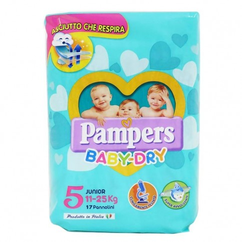 Pampers Pannolini Baby Dry Junior 11-25 kg, 17 pz