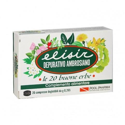 Elisir Depurativo Ambrosiano, 20 compresse