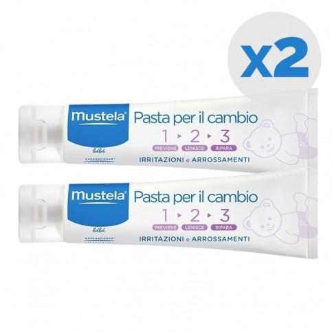 Mustela Pasta Cambio 123, confezione doppia 2 x 100 ml