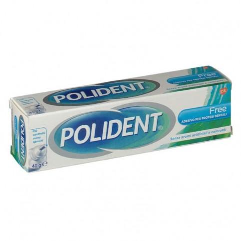 Polident Free Adesivo per Dentiere Ipoallergenico senza Zinco, 40 g