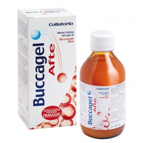 Buccagel Afte Collutorio, bottiglia 200 ml - Afte e Lesioni in Bocca