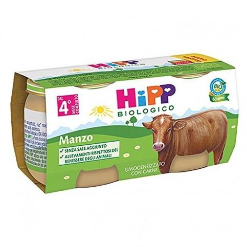Hipp Bio Omogeneizzato Manzo, 2 vasetti da 80 gr