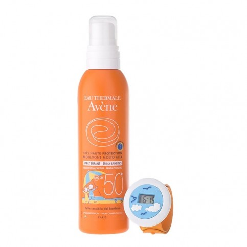 Avene Solare Spray Bambino SPF 50+ 200 ml - Omaggio orologio digitale Slap Watch
