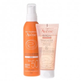Avene Spray Solare SPF 50+ 200 ml e in omaggio Trixera Nutrition 100 ml