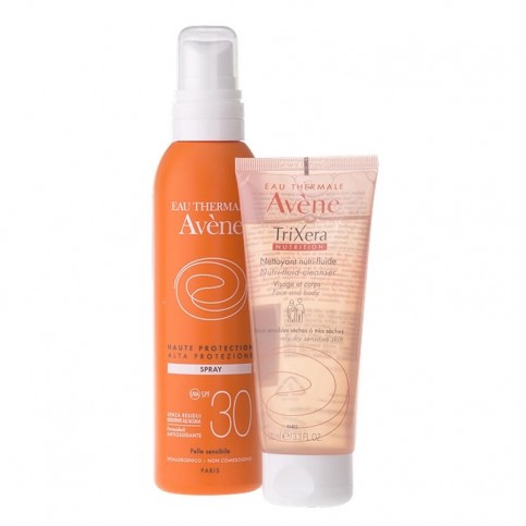 Avene Spray Solare SPF 30 200 ml e in omaggio Trixera Nutrition 100 ml