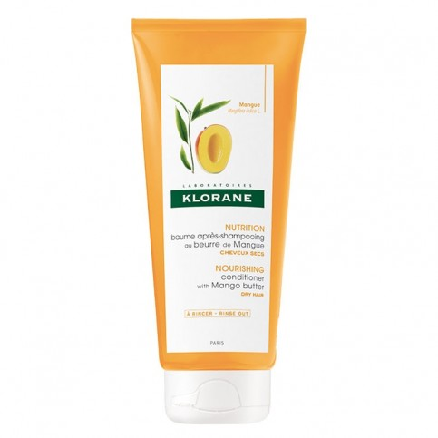 Klorane Balsamo dopo shampoo al burro di Mango, 200 ml