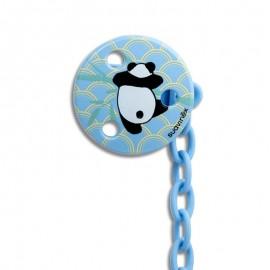 Suavinex Catenella Porta Ciuccio 0+ mesi - Panda Azzurro