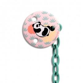 Suavinex Catenella Porta Ciuccio 0+ mesi - Panda Rosa