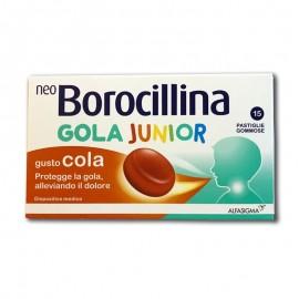 NeoBorocillina Gola Junior Pastiglie Gommose Gusto Cola, 15 pastiglie
