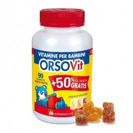 Orsovit Vitamine per Bambini, 90 caramelle gommose orsetto
