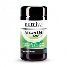 Nutriva Vegan D3 2000UI, 60 compresse