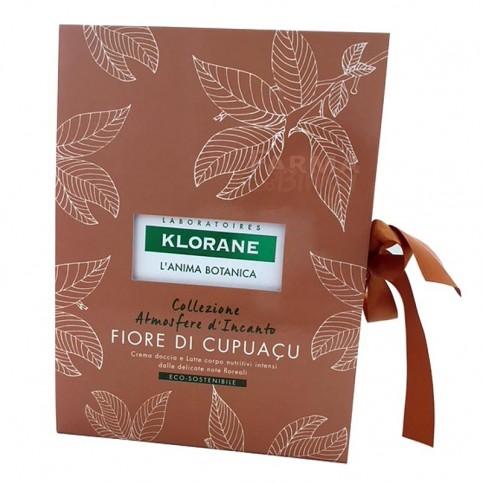 Klorane Cofanetto Fiore di Cupuacu, Crema doccia 200 ml e Latte corpo 200 ml