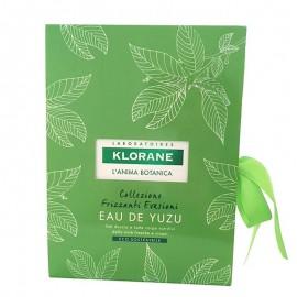 Klorane Cofanetto Eau de Yuzu, Gel doccia 200 ml e Latte corpo 200 ml