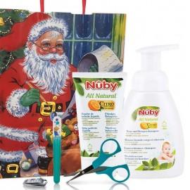 Idea Regalo Igiene Nuby con Set Manicure, Bagnoschiuma e Polvere Liquida