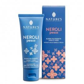 Nature's Burro Nutriente Mani e Piedi con estratti bio di Neroli e Pesca, 75 ml
