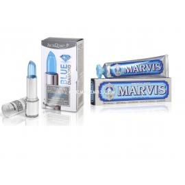 EPH BLUE DIAMOND +MARVIS Aquatic Mint, Stick labbra  4ml