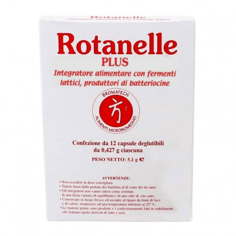 Rotanelle Plus Bromatech, 12 capsule, fermenti lattici