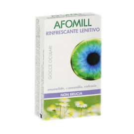 Afomill Rinfrescante per Occhi Stanchi, 10 fialette monouso da 0.5 ml