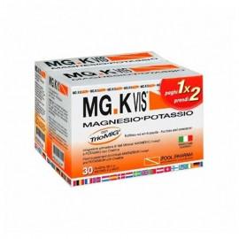 MG.KVIS Magnesio-Potassio, 30 + 14 bustine gusto arancia