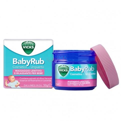VIcks BabyRub, 50 ml - Unguento lenitivo e rilassante per il massaggio del bebè