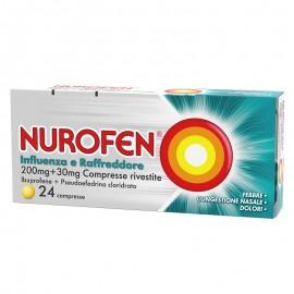 Nurofen Influenza e Raffreddore 200 mg + 30 mg, 24 compresse rivestite