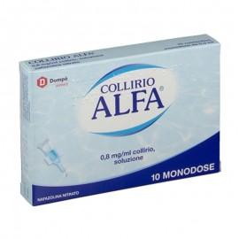 Collirio Alfa 0,8 mg/ml collirio, 10 contenitori monodose 0,3 ml