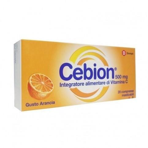 Cebion Vitamina C gusto Arancia,  20 compresse masticabili