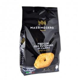Massimo Zero Frollini con Zucchero di Canna senza glutine, 375 g