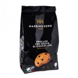 Massimo Zero Frollini con Gocce di Cioccolato senza glutine, 375 g