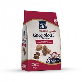 Nutrifree Gocciolotti Cioccolato snack senza glutine, 6 x 40 g