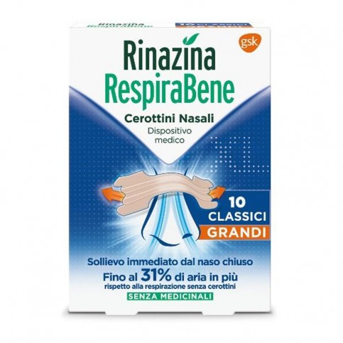 Rinazina RespiraBene Classici Grandi, 10 cerotti