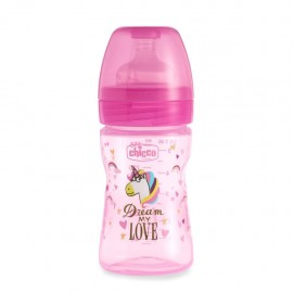 Chicco Biberon WB Fantastic Love Silicone 0m+, 150 ml
