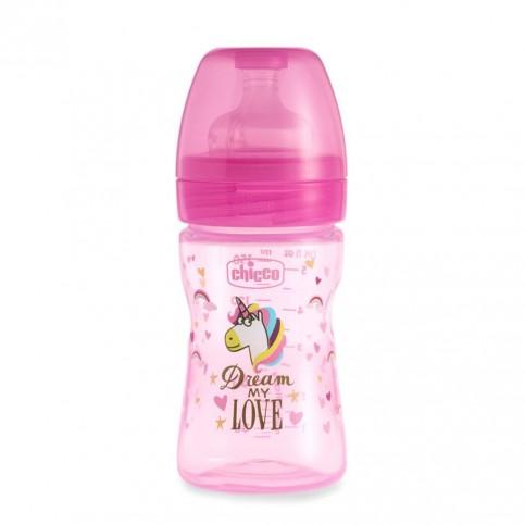 Chicco Biberon WB Fantastic Love Silicone 0m+, 150 ml