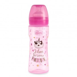 Chicco Biberon WB Fantastic Love Silicone 4m+, 330 ml