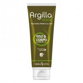 Erba Vita Argilla Verde Maschera Viso e Corpo, 250 ml