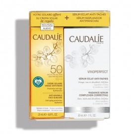 Cofanetto Solare Vinoperfect, Siero Illuminante Anti-Macchie + Crema Solare Viso Anti-Rughe SPF50