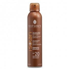 Nature's Solare Spray Trasparente SPF 20, 200 ml
