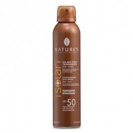 Nature's Solare Spray Trasparente SPF 50, 200 ml