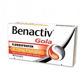 Benactiv Gola senza zucchero gusto Arancia, 16 pastiglie